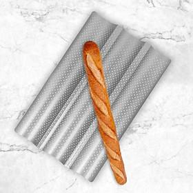 Khay Nướng Bánh Mì Baguette Lượn Sóng 3 Rãnh