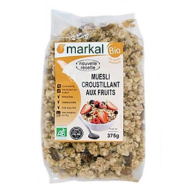 Ngũ cốc giòn trái cây hữu cơ Muesli Croustillant Aux Fruits Markal 375g