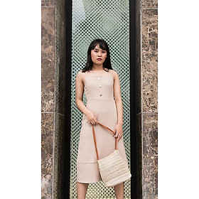 Scarlett House_Eva Dress Đầm Beige 2 Dây