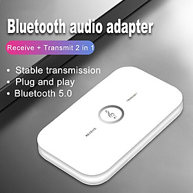 Bluetooth 5.0 Transmitter Receiver Wireless 3.5mm AUX Stereo Music Audio Speaker Adapter for PC Computer TV