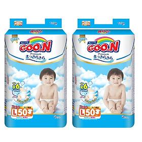 2 Gói Tã Dán Goo.n Premium Gói Cực Đại L50 (50 Miếng)-0