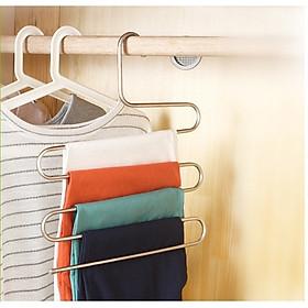 Hình ảnh Combo 3 Mắc treo quần áo nhiều lớp kim loại