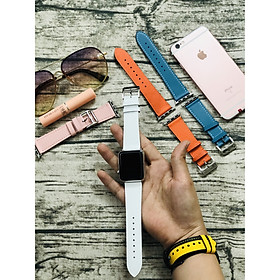 Dây Đeo Thay Thế Dành Cho Apple Watch -  Dây da cao cấp - Dây Da 2 màu