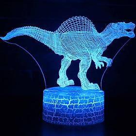Đèn Bàn Khủng Long 3D