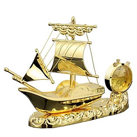 Thuyền buồm thuận buồm xuôi gió tích hợp đồng hồ, nước hoa trang trí Taplo ô tô - Mã: A180184