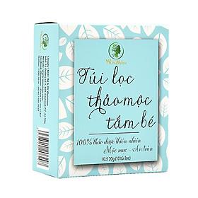 Hộp 10 Túi Lọc Thảo Mộc Tắm Cho Bé Wonmom 120Gr Ngừa Ham Ngứa, Mát Da, Tăng Cường Sức Đề Kháng Da Trẻ - Chăm Sóc Làn Da Trẻ Nhỏ