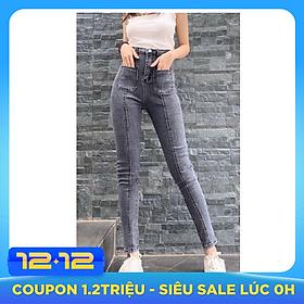 Quần jean nữ lưng cao Julido, chất jean cotton co dãn tôn dáng phụ nữ eo thon mẫu QQS07