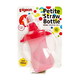Bình nước tập uống cho bé Pigeon Petite Straw Bottle 150ml (Giao màu ngẫu nhiên)