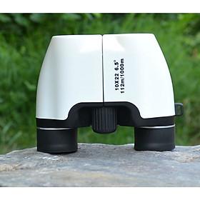Ống nhòm 10x22 mini cầm tay cỡ nhỏ siêu nét cao cấp (Tặng la bàn mini chỉ hướng đa năng)