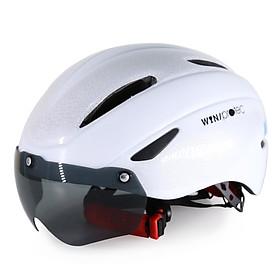 Nón Bảo Hiểm Xe Đạp Có Kính Protec Win 018, Mũ Bảo Hiểm Xe Đạp Tiêu Chuẩn Châu Âu, Kính Mát, Chống Nắng, Chống Tia UV - Hàng Chính Hãng
