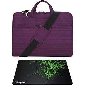 Túi chống sốc có dây đeo cho laptop, MacBook - D1 - tặng bàn di chuột