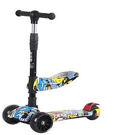 Xe Trượt Scooter Trẻ Em Có Ghế Gấp Gọn Dành Cho Bé Từ 2 Đến 10 Tuổi