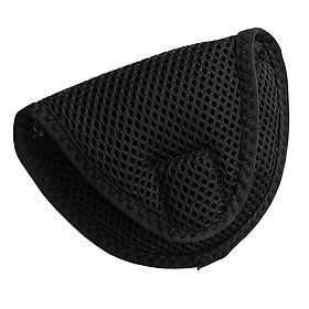 Lightweight Mallet Putter Head Cover Golf Headcover Protector Bag with Fastening Tape Golf Clubs Accessories Golfer Equipment
