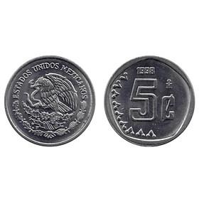 Đồng xu Mexico 5 cent sưu tầm [MỚI CỨNG] 15.5 mm