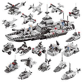 Đồ Chơi Lắp Ghép Mô Hình Thủy Quân Lục Chiến Tàu Chiến Hạm 700 Mảnh Ghép Phát Triển Trí Tuệ Cho Trẻ
