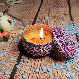 Sáp Nến Thơm Hoa Khô Thiên Nhiên Cho Mùi Thơm Dễ Chịu, Thư Giãn Tinh Thần, Sảng Khoái Vô Cùng - Giao Màu Và Mùi Ngẫu Nhiên