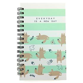 Sổ Lò Xo Moshi 444 - Everyday Is A New Day - Xanh Mint