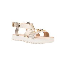 Giày Sandal Nữ GEOX J S.CORALIE G. F ELAS+GL.TEXT GOLD - Vàng