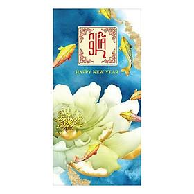 Xấp 10 Bao Lì Xì Chúc Mừng Năm Mới Mẫu Hoa Khai Phú Quý