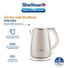 Ấm Đun Siêu Tốc 2 Lớp Bluestone KTB-3351 - 1.5L (Màu Ngẫu Nhiên) - Hàng chính hãng