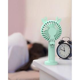 Quạt Animal mini fan siêu cấp dễ thương có LED gấp gọn tiện dụng