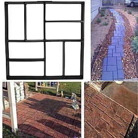 Reusable DIY 8 Grids Pathmate Stone Mold Paving Concrete Stepping Stone Mould Pavement Paver 40x40 CM