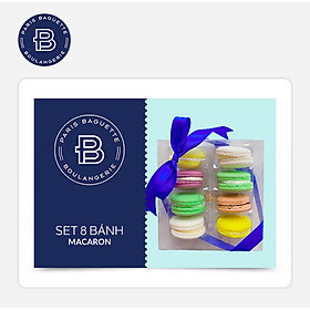 Paris Baguette - Set 8 Bánh Macaron _ Áp Dụng Tại Hà Nội