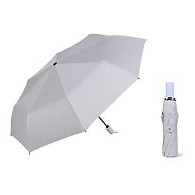 Three-fold Solid Color Sunscreen  Black Glue Anti-Uv Folding Umbrella