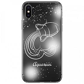 Ốp lưng  dành cho iPhone X mẫu Cung hoàng đạo Aquarius (đen)