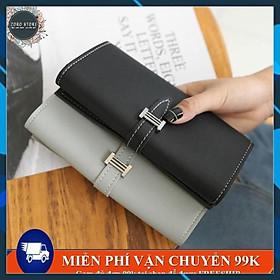 Ví nữ dài mini nhiều ngăn tiện dung, khóa cài gấp đôi , phù hợp đựng tiền và đựng thẻ ATM