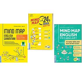 Sách - Combo 3 Cuốn Mind Map English Grammar – Ngữ pháp + Từ Vựng Và Giao Tiếp Tiếng Anh Qua Sơ Đồ Tư Duy ( Nghe Qua App) NHH