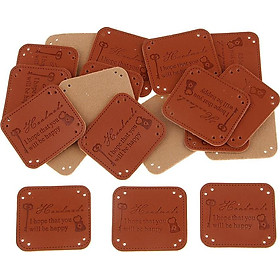 20 Pieces PU Leather Labels