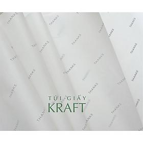 Giấy gói hàng in T.H.A.N.K.S khổ nhỏ 21 x 40cm, giấy pelure, giấy hút ẩm