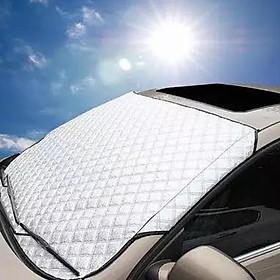Bạt phủ phản quang siêu dày 4 lớp chống nắng chống nóng chống mưa chống UV kính lái, dùng cho mọi loại xe ô tô
