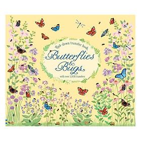 Usborne Rub-down transfer book Butterflies and Bugs