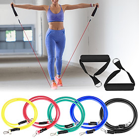 16pcs Fintess Resistance Bands Set Exercise Tube Bands Jump Rope Door Anchor Ankle Straps Cushioned Handles Fitness-4