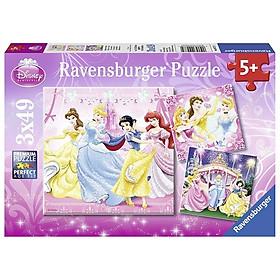 Bộ Xếp Hình Ravensburger Puzzle Snow White RV092772 (3 Bộ 49 Mảnh Ghép)