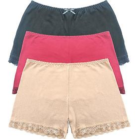 Combo 3 Chiếc Quần Lót Nữ Mặc Váy Phối Ren Cao Cấp NANO PM W10 Kháng Khuẩn, Mềm Mịn, Thoáng Mát (Giao Màu Ngẫu Nhiên) - Hàng Chính Hãng