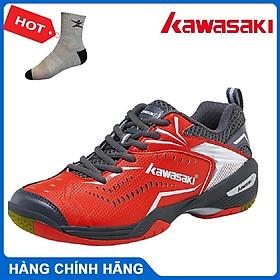 Giày cầu lông Kawasaki K526 chuyên nghiệp dành cho nam và nữ - Tặng kèm tất thể thao Bendu chính hãng màu bất kỳ