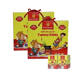 [ Combo 5 Hộp ] Yến Yummy Kiddy Hương Trái Cây Thiên Hoàng (6 Lọ/Hộp) - Tặng 2 Khăn Đa Năng Hàn Quốc