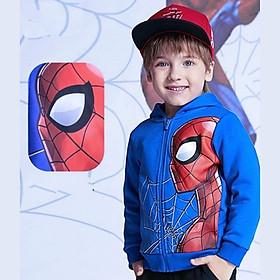 Áo khoác bé trai hình siêu nhân từ 10-40kg. Chất thun da cá hút mồ hôi -Bonchop