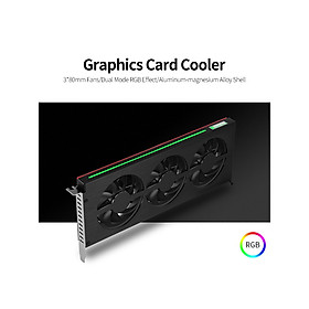 JONSBO Graphics Card Cooler Cooling Fan Graphics Card Radiator with 3 Fans RGB Effect for NVIDIA GTX/AMD