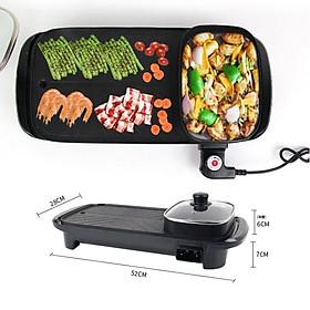 Bếp Lẩu Nướng 2 Trong 1 KhoNCC Hàng Chính Hãng - BBQ Tại Gia - Gia Đình Sum Vầy - KDHS-4904-BepLauNuong