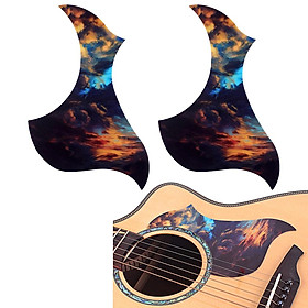 2 X Acoustic Guitar Pickguard Pick Guard Scratch Plate For Acoustic Guitar