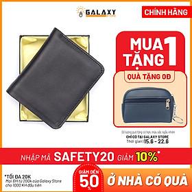 Ví Nam Bóp Nam Da Bò Thật Có Khe SIM Galaxy Store GVN07 (Đen)