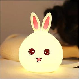 Đèn ngủ trang trí để bàn hình mặt thỏ độc đáo