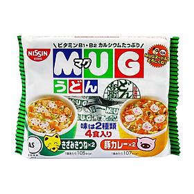 Mì ăn dặm cho trẻ trên 1 tuổi Nissin MUG Cup Noodle 96g (4 Gói nhỏ bên trong, 2 hương vị) - Nhập khẩu Nhật Bản