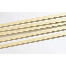 Combo 5 thanh gỗ vuông gỗ thông 1cm x 60-120cm treo mành, phụ kiện macrame