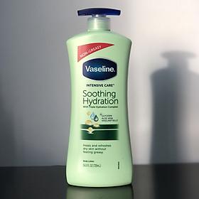Sữa dưỡng thể Vaseline xanh lá Total Moisture Aloe Fresh Hydrating Body Lotion 725ml mẫu mới