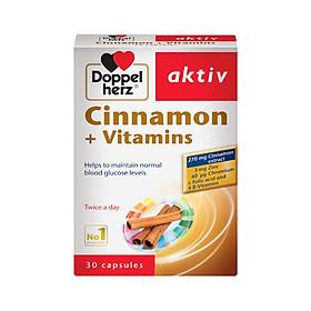 VIÊN UỐNG CHO NGƯỜI TIỂU ĐƯỜNG HUYẾT ÁP CAO  DOPPEL HERZ CINNAMON+vitamins  30 viên